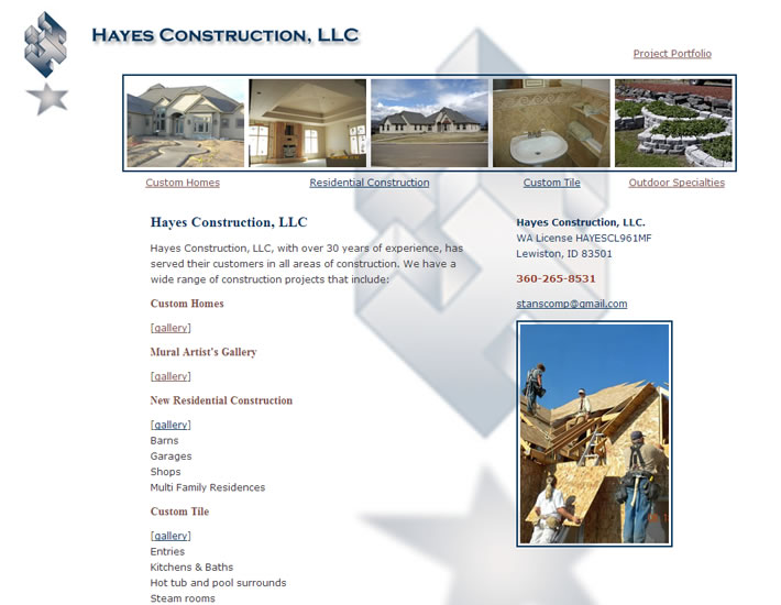 Hayes Construction screenshot
