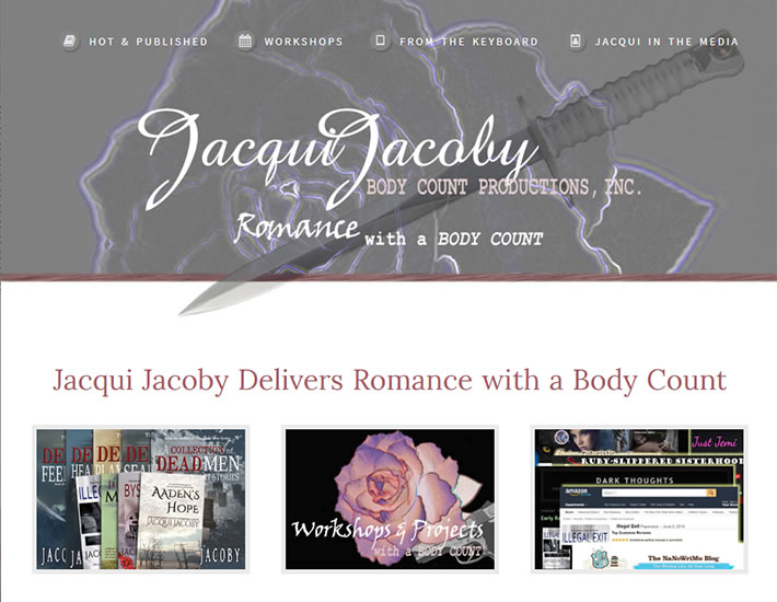 Jacqui Jacoby homepage screenshot