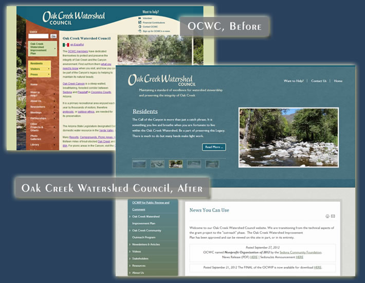 Oak Creek Watershed Council screenshot