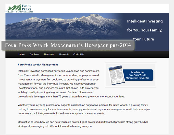 Four Peaks Wealth Management - Before