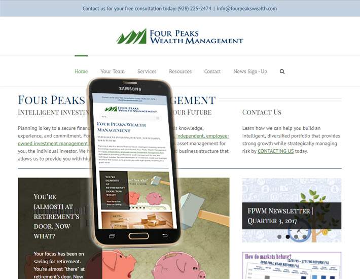Four Peaks Wealth Management homepage