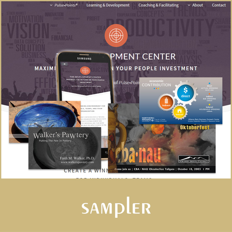sampler portfolio graphic button