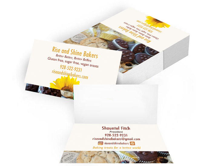 Rise and Shine Bakers business cards