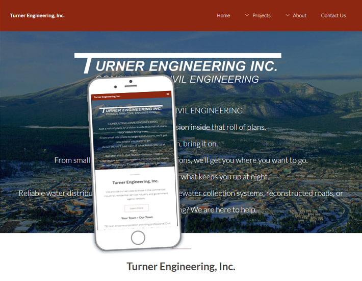 Turner Engineering, Inc. screenshot, after