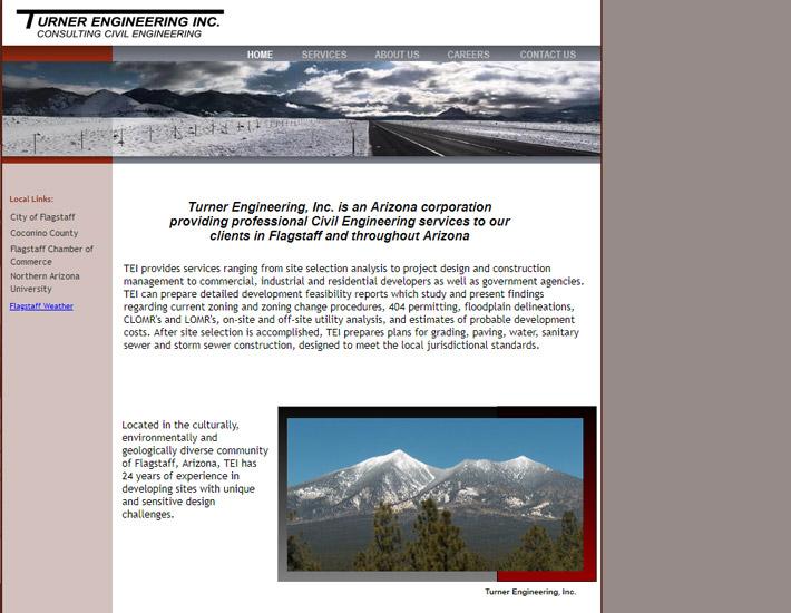 Turner Engineering, Inc. screenshot, before