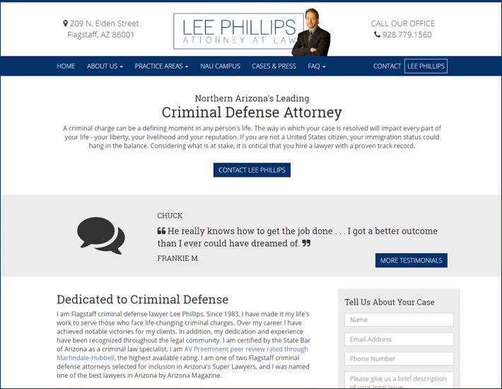 Lee Phillips Law before screenshot