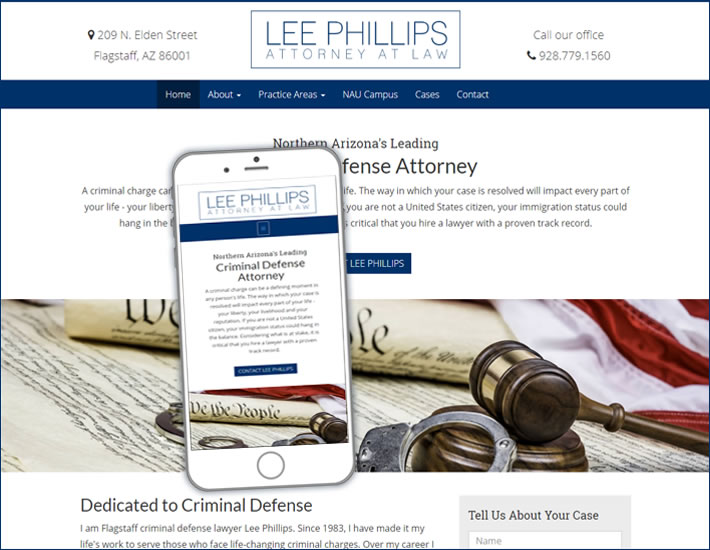 Lee Phillips Law screenshot