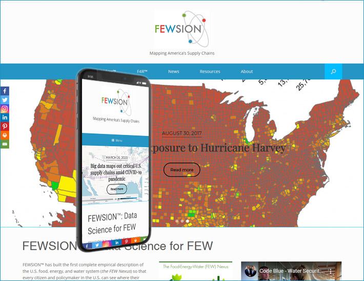 FEWSION.us' 2020 refresh - homepage screenshot
