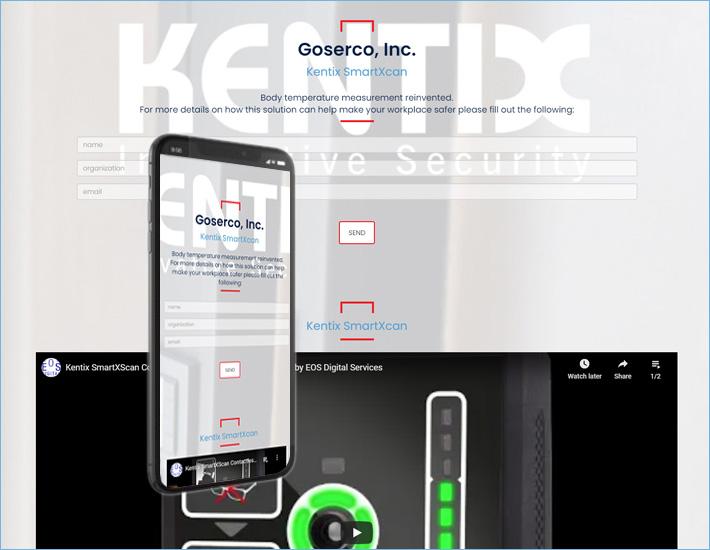 Goserco's Kentix Landing Page