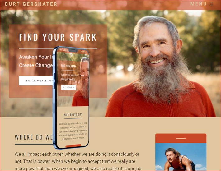 Burt Gershater's homepage After renovation